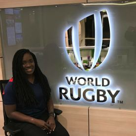 Kwanieze John at World Rugby Headquarters